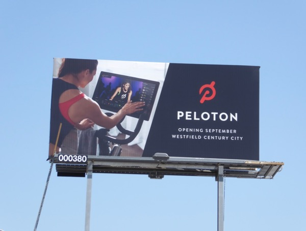 Peleton indoor exercise bike billboard