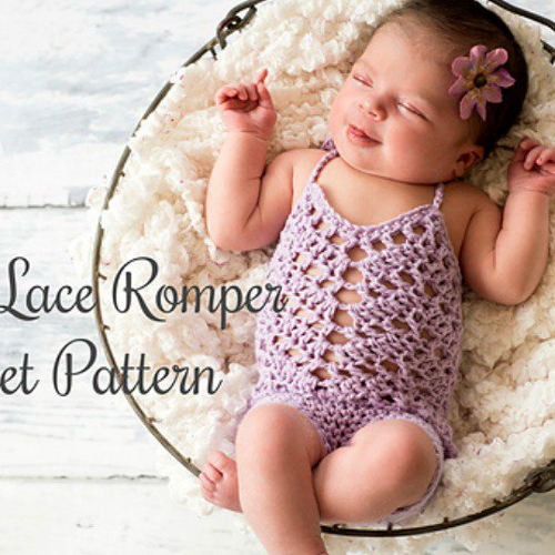 Chevron Lace Romper - Free Pattern
