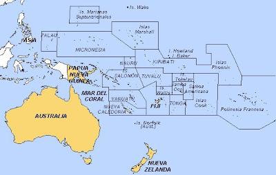 Geografía En Vivo Países Y Capitales De Oceanía