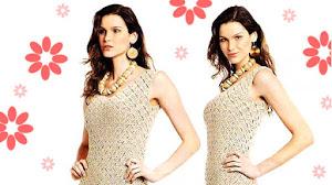 Vestido Crochet tejido con motivos cuadrados / Paso a paso