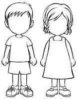 silhouettes des enfants
