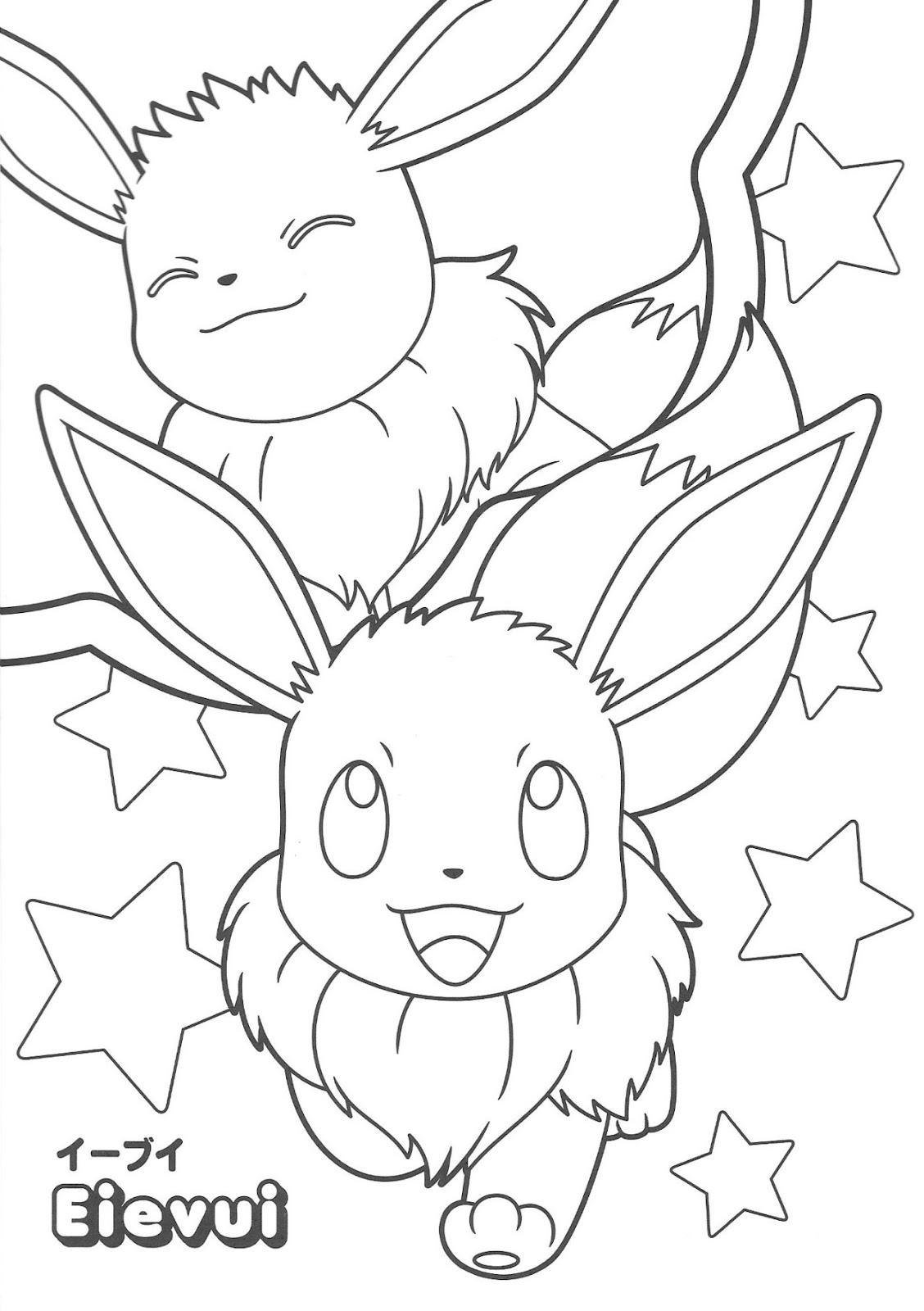 Desenhos Para Colorir Pikachu And Eevee Friends Oficial