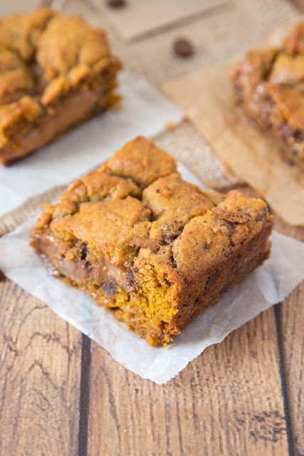 pumpkin caramel cookie bar recipe