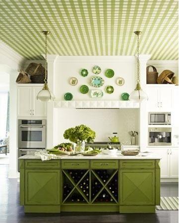 15 fotos de cocinas verdes - Colores en Casa