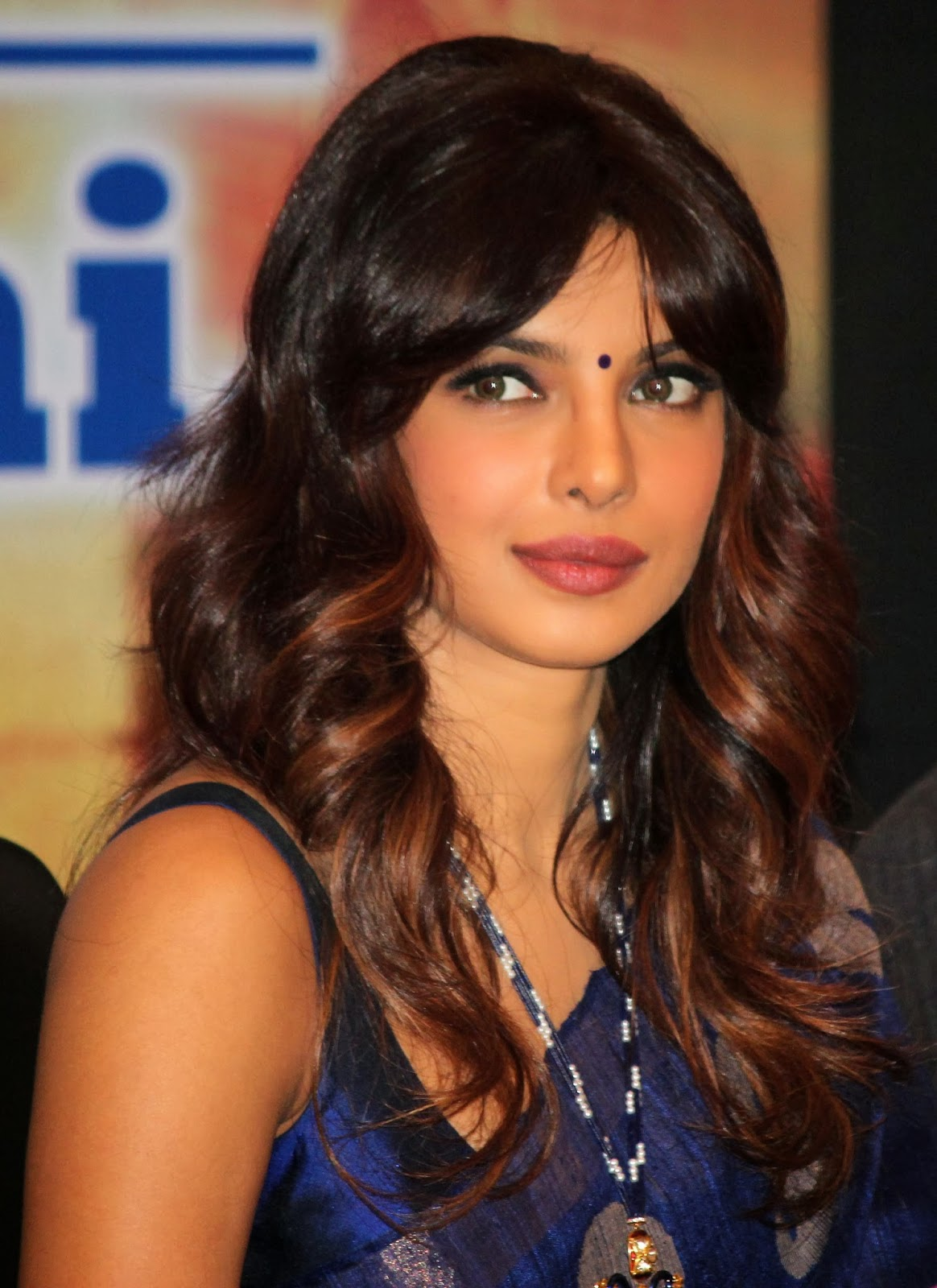 Priyanka Chopra 2016 Latest Hot Photos In Blue Saree