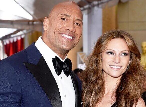 "Dwayne ""The Rock"" Johnson's and  longtime girlfriend, Lauren Hashian"