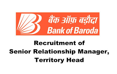 Bank of Baroda Recruitment- Senior Relationship Manager/ Territory Head. Last Date: 29.03.2019