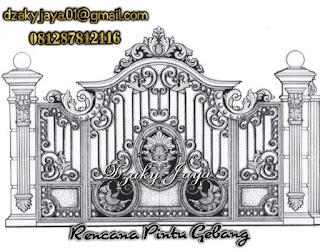 Desain Pagar Besi Tempa untuk rumah mewah klasik