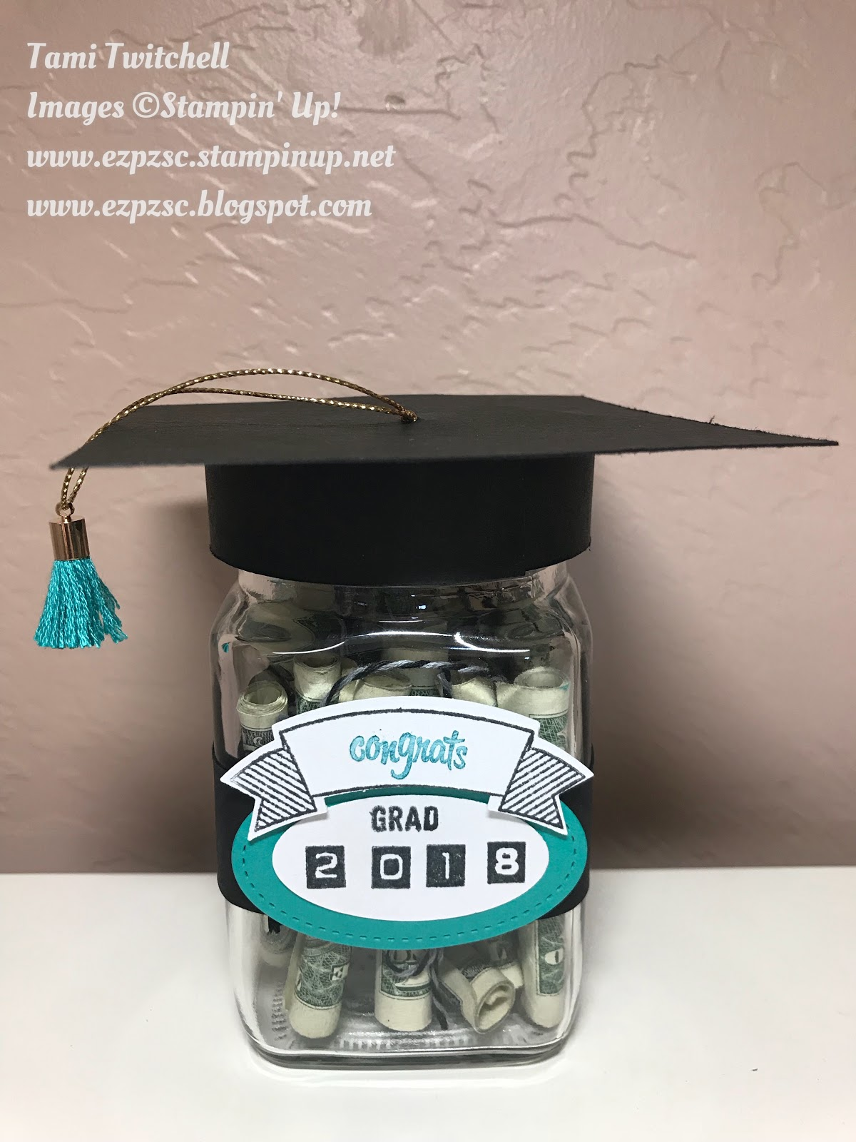 ez pz stamping and crafting graduation gift jars