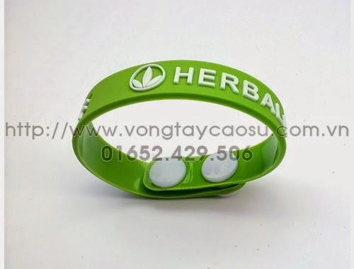 Vòng tay cao su cúc bấm Herbalife