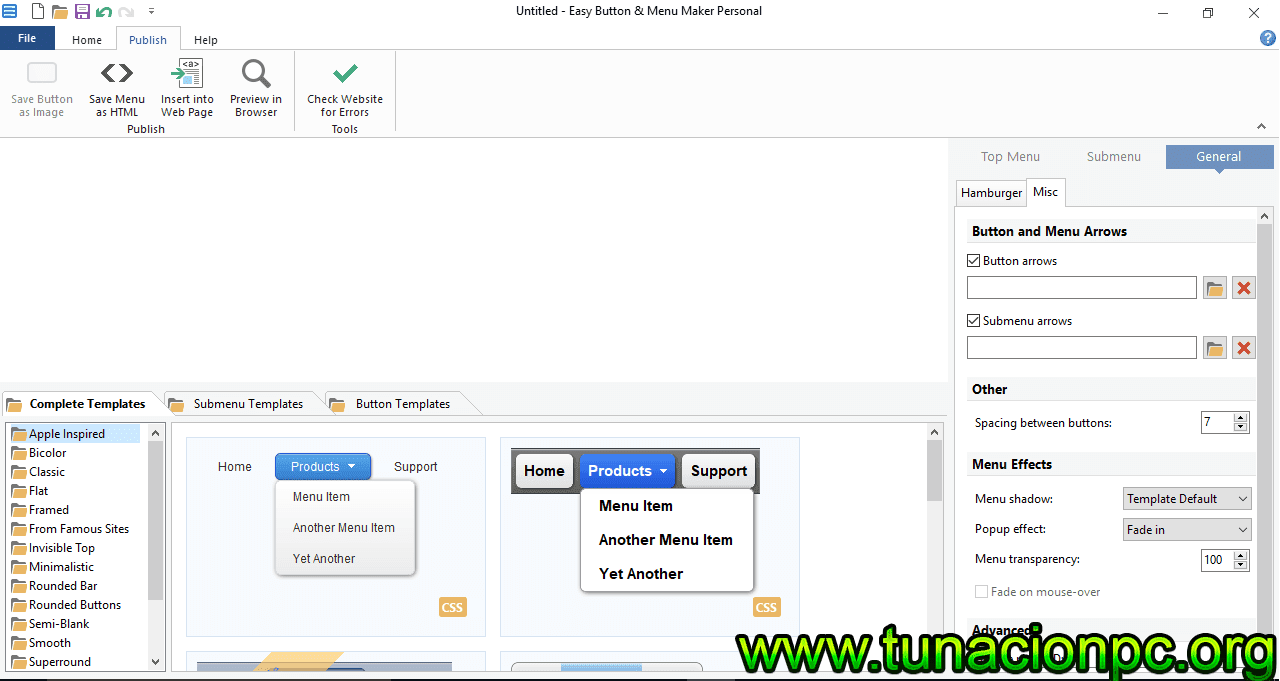Blumentals Easy Button - Menu Maker Pro Gratis con Licencia