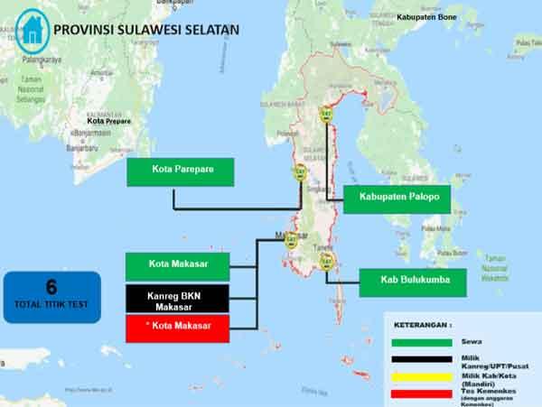 Lokasi Tes Cat BKN Propinsi Sulawesi Selatan