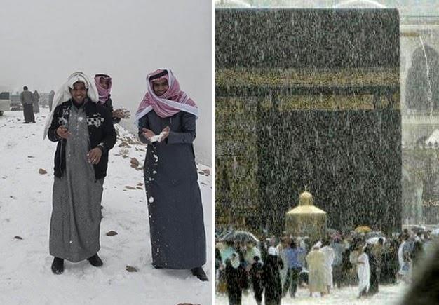 Salju di Arab dan Banjir di Makkah, Tanda Kiamat Semakin Dekat?