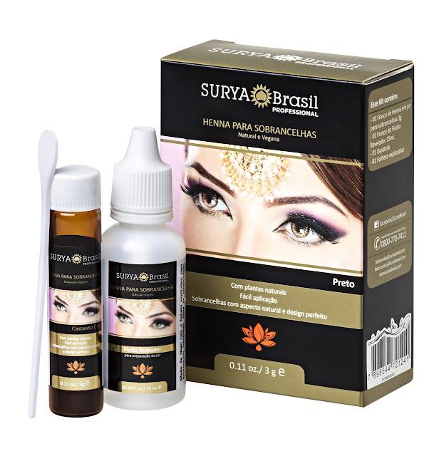 Henna para sobrancelhas lançamento Surya Brasil