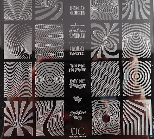 UberChic Beauty Op Art Magic Plate