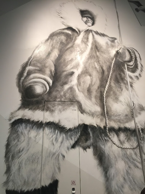 Picture of anInuit in traditional clothing; part of Arctic Circle Gallery at the Canadian Museum of Nature.