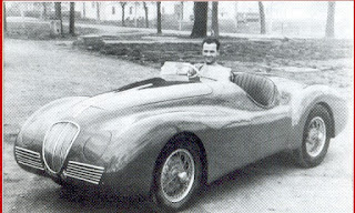 Bandini at the wheel of his first car, the Bandini 1100