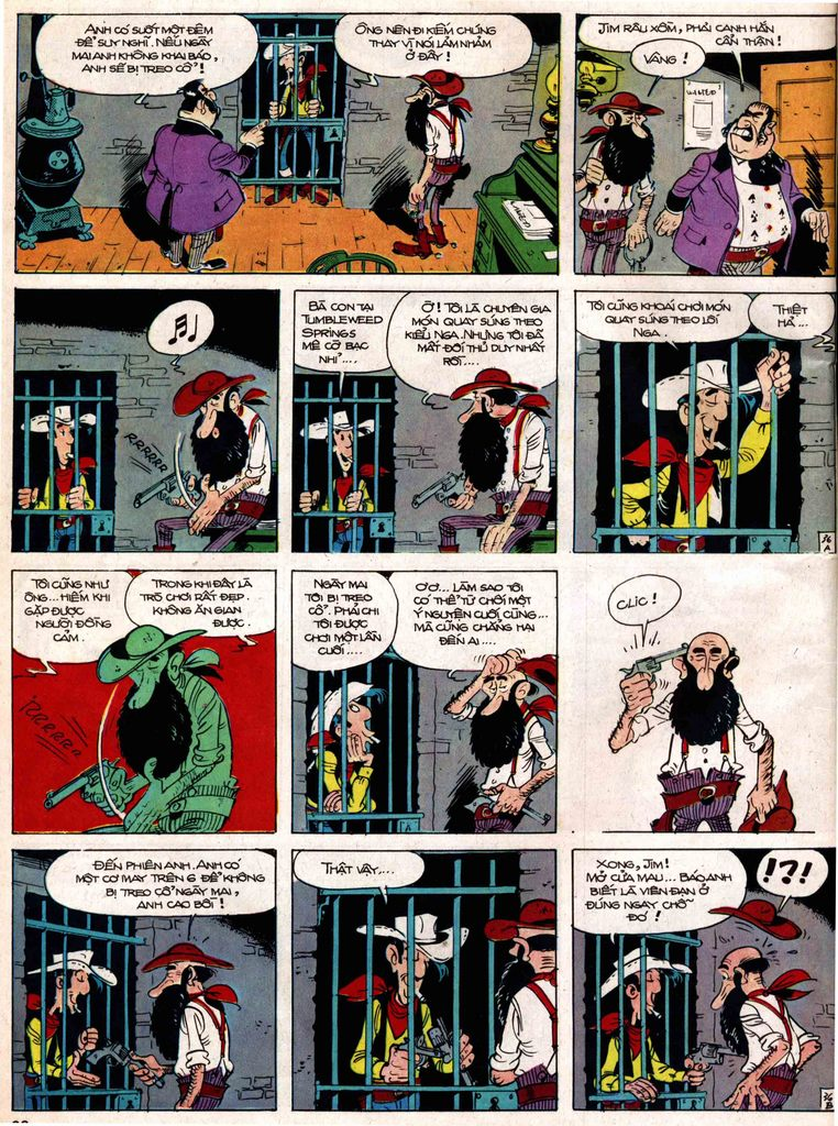 Lucky Luke tap 18 - ki si ao trang trang 36