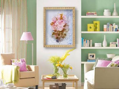 Картина маслом Розы. Букет цветов в вазе