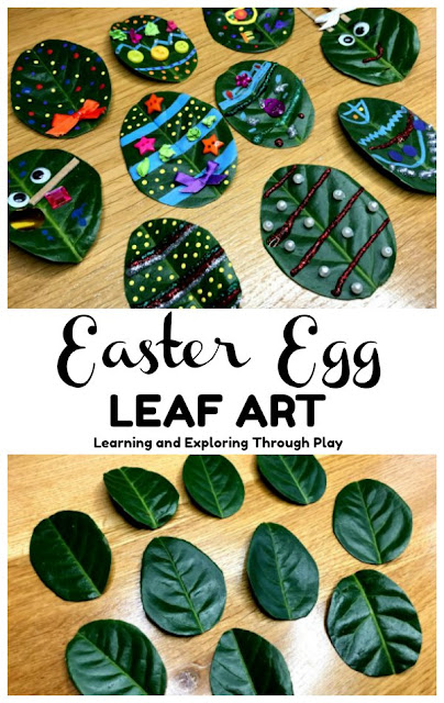 Leaf Easter Egg Craft Forest School Ideas
