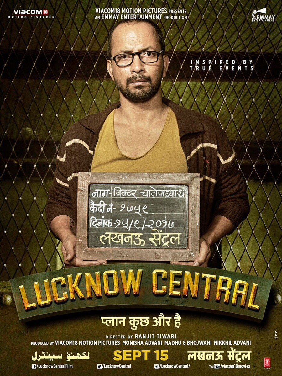 Farhan Akhtar and Ronit Roy Shoot with Lucknow Central Poster