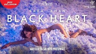 Black Heart Lyrics | Sara Khan | Vicky Hardik