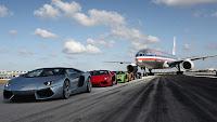Lamborghini Aventador Vs. Boeing 777 images