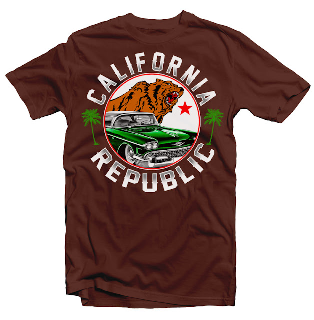 california republic tshirt design