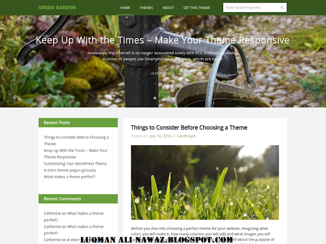 Green Garder Best Wordpress Theme