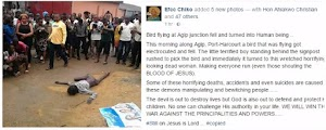 Are You Sure?  Bird  fell and turned into a human being in Port Harcout,(Photos)