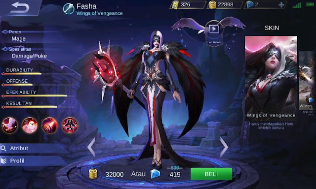 Inilah Top Guide Item Fasha Mobile Legends Wings Of Vengeance