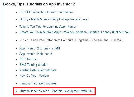 Truston Teaches Tech: App Inventor 2 Power Users FAQ