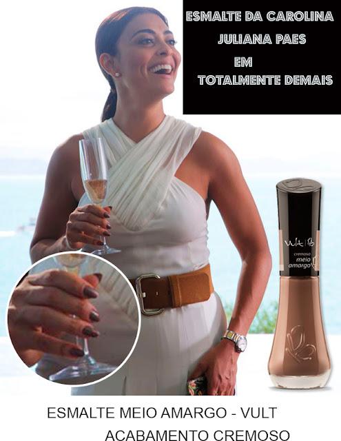 Descubra o esmalte nude de Juliana Paes, a Carolina em Totalmente Demais (FOTO: TV GLOBO/DIVULGAÇÃO