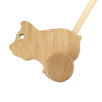PU06, Push along Piglet, Lotes Wooden Toys