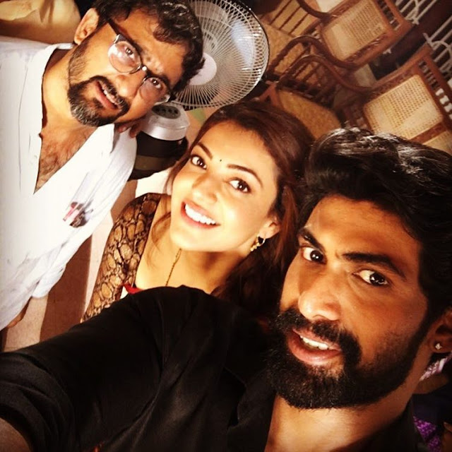Kajal agarwal, rana, teja latest photo from new movie