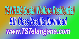 Telangana TSWREIS Gurukulam 8th Class Entrance Test 2017 Results Download