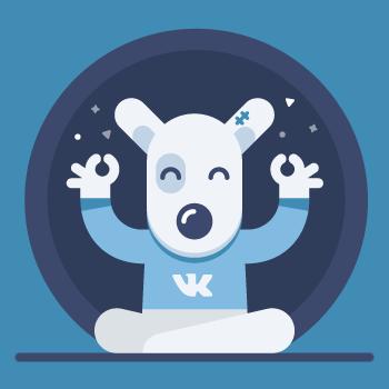 vkontakte dog flat icon