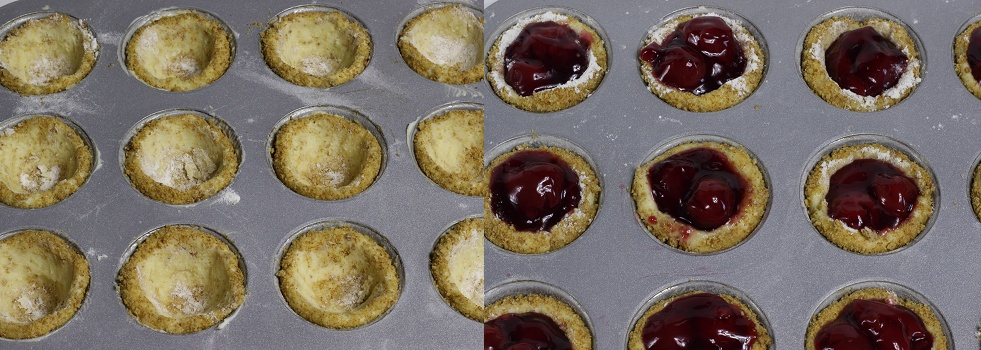 Cherry Cheesecake Cookie Cups Anleitung 2