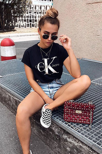 Calvin Klein Tee | 21+ Pretty Fall Outfits Inspired by Fashion Influencers