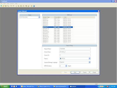 Hướng dẫn lập trình tạo file thiết kế lập trình màn hình Delta B07S411