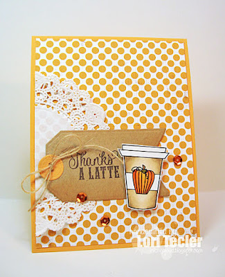 Thanks a Latte card-designed by Lori Tecler/Inking Aloud-stamps and digital images from Verve Stamps