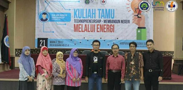 Kuliah Tamu Bertema TECHNOPRENUERSHIP di Universitas Negeri Malang
