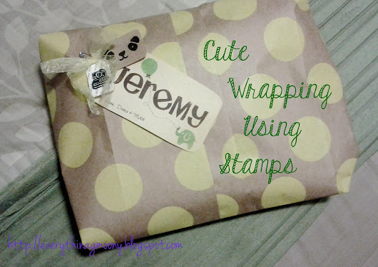 Cute Wrapping Using Stamps