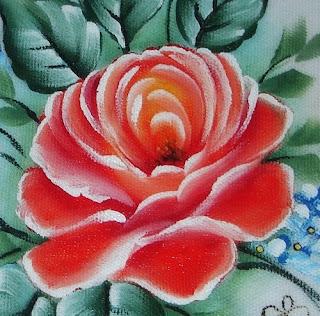 pintura em tecido como fazer rosas