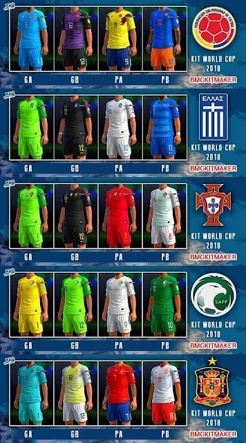 Update National Team Kit 2018 PES 2013