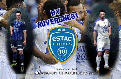 PES 2013 Troyes AC 2016-17 Kits by Auvergne81