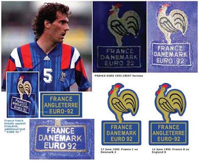 football teams shirt and kits fan france euro 1992 crest ref. Black Bedroom Furniture Sets. Home Design Ideas