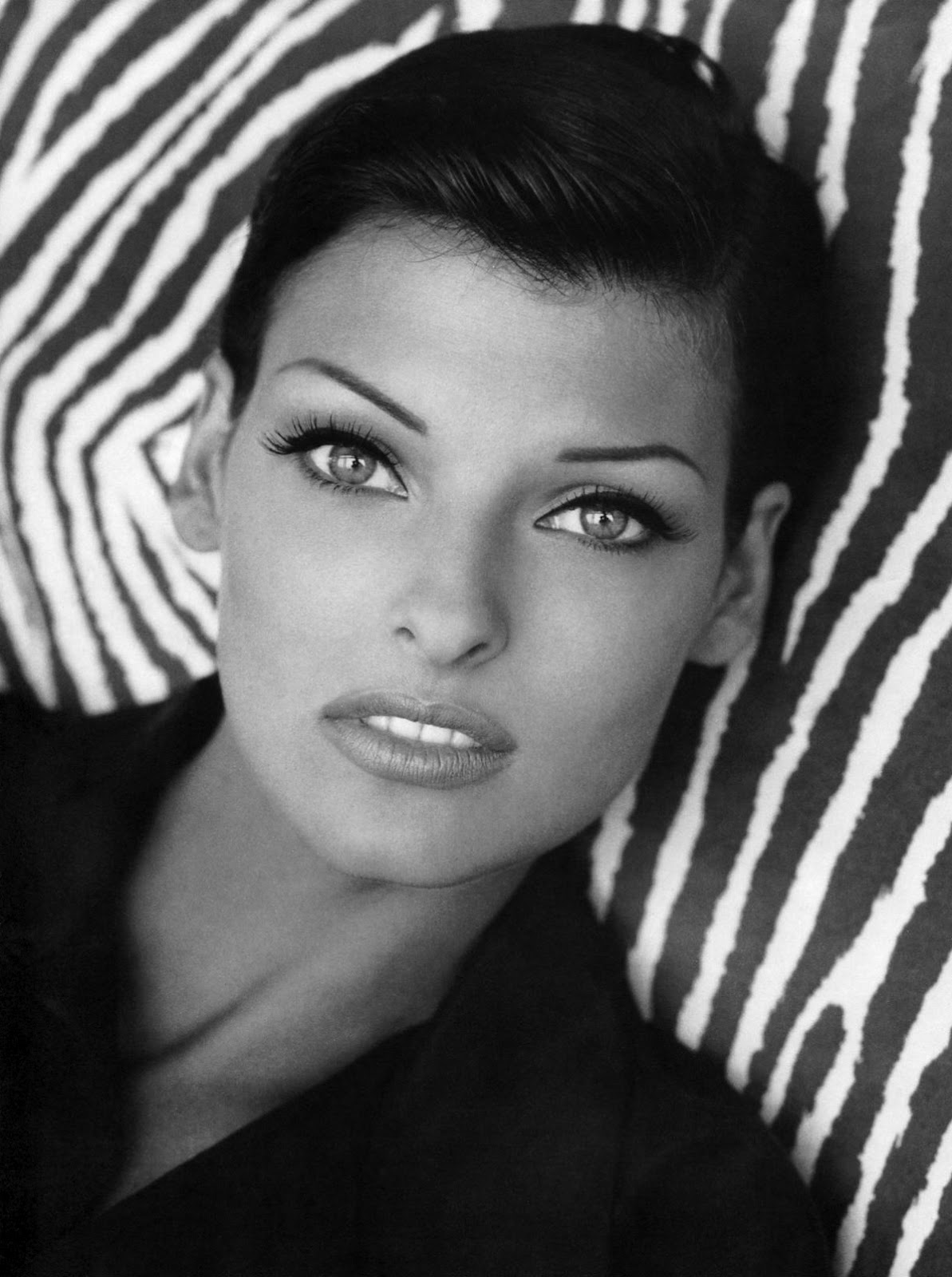 Linda Evangelista Covers The 35th Anniversary Issue Of: Linda Evangelista 1995