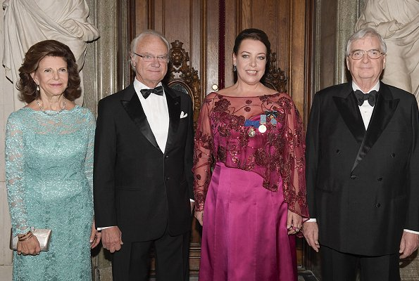 Queen Silvia wore a lace gown at award ceremony. Nina Stemme has been announced as the recipient of the 2018 Birgit Nilsson Prize