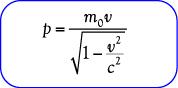 Rumus momentum relativistik